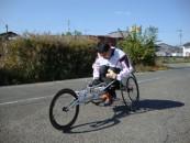 車椅子マラソンランナー