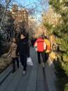初日の出はブルックリン橋で。