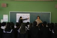 牟礼北小学校に行ってきました♪